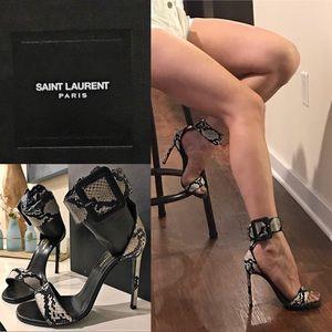 Saint Laurent Python Sandals (Rare pattern)